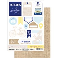 Labels sheet: A5 Santorini Paros