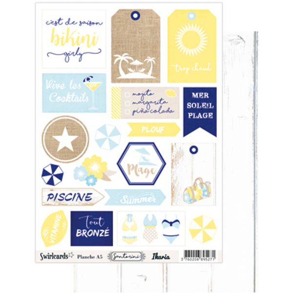 Labels sheet: A5 Santorini Ikaria