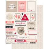 Labels sheet: 5th Avenue en hiver