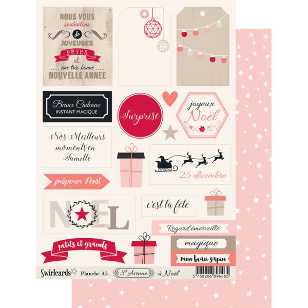 Labels sheet: 5th Avenue à Noël