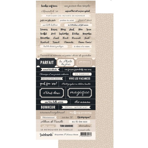 Labels sheet: 5th Av. étiquettes Ginza