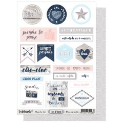 Labels sheet: Vent d'Ouest A5 Photo