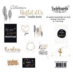 Reflet d'OR Vanille Dorée Lot de 10 cartes