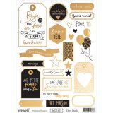 A5 Labels Reflet d'OR Ocre Doré