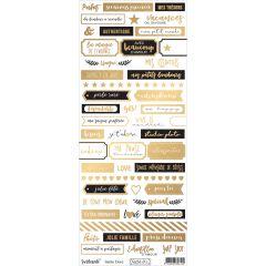 Reflet d'Or Sable doré Planche de mots