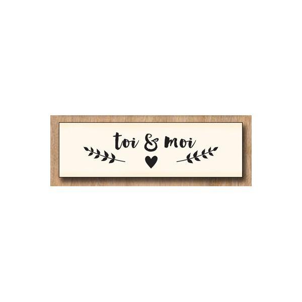 Wood stamp: Toi & Moi