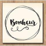 Wood stamp: Bonheur