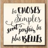 Wood stamp: Choses Simples